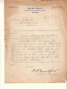 May 5 1911 Post Office Dept First Assistant Pmg To Pm Mckenna Wa/return Of Bond