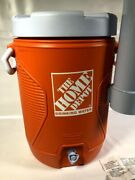 The Home Depot Drinking Water Rubbermaid 5 Gallon Cooler Insulated Jug Orange