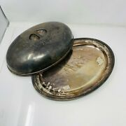 Vintage International Silver Co 0998a Silver Soldered Cloche Serving Plate Dish