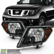 For 2009-2018 Frontier Truck Black Headlights Headlamps Replacement Left+right