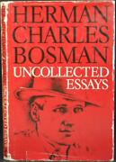 Herman Charles Bosman Uncollected Essays 1932-48 South Africa Journalism