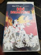 101 Dalmations Walt Disney Black Diamond Vhs Classic Collectible Tape 1992
