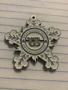 Usss Secret Service Christmas Snowflake Challenge Coin With Ornament Hole