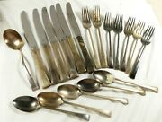 Vtg 1947 Tranquility Fine Arts Sterling Silver Silverware Dining 19 Pc Set