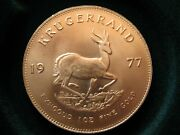 1977 Full Troy Ounce Gold Vintage Krugerrand South Africa Uncirculated