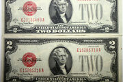 2-1928g Red Seal United States Notes Grades Vf/ Xf Num4914