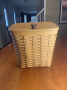 Longaberger Large Mail Basket 2000 With Lid And Booklet Great Condition