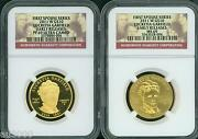 2011-w 10 Gold Spouse Lucretia Garfield Ngc Pr69 Pf69 And Ms69 2-coins Set Er
