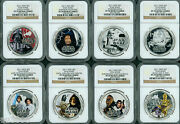 2011 Niue Star Wars Silver Rebel Alliance And Dark Side 8-coin 2-set Ngc Pf70 Ogps