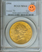 1904 20 Liberty Double Eagle Pcgs Graded Ms64 Gold Coin Ms-64 P.q.