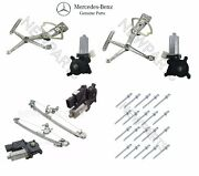 For Mercedes W210 Front And Rear Power Window Motors W/ Regulators And Rivets New