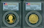 2012-w 10 Gold Spouse Alice Paul And Suffrage Pcgs Pr69 Pf69 And Ms69 2-coin Set Fs