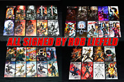 Snake Eyes Deadgame 1 38 Variant Set - All Signed By Rob Liefeld