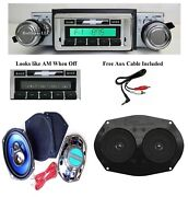 1973-1977 Chevy Chevelle Radio + Stereo Dash Replacement Speaker + 6x9and039s 230