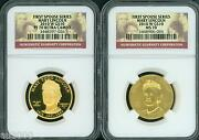 2010-w 10 Gold Spouse Mary Todd Lincoln Ngc Pr70 Pf70 And Ms70 2-coins Set