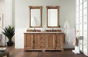 Providence 72 Double Vanity Cabinet Driftwood With 3 Cm Classic White Quartz...