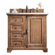 Providence 36 Single Vanity Cabinet Driftwood With 3 Cm Classic White Quartz...