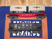 Lionel 3460 Flatcar With Trailers And 3456 Operating Hopper