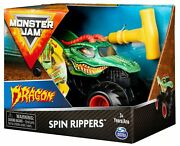 Monster Jam Spin Rippers Dragon Vehicle And 1 Free Son-uva Digger Vehicle - New