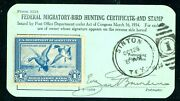 Rw1 1934 Federal Duck Form 3333 Husband And Wife Matching Forms - Super Rare