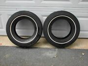 Pair Vintage Nos Firestone A78-13 Deluxe Champion Belted Tires Pinstripe