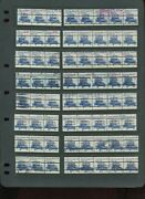 1906a Electric Auto Precancel Set Of 30 Used Plate Strips W/gaps And Types A/b/c