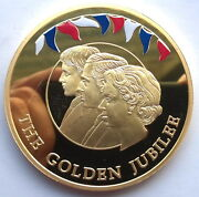 Falkland 2002 Queen 10 Pounds Gold Plated 5oz Silver Coin,proof