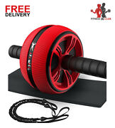 Roller For Abs Workout - Wheel Roller For Home Gym With Resistant Band