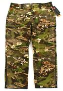Under Armour Forest Camo Ua Storm Stealth Reaper Wool Blend Hunting Pants Men's