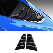 Carbon Fiber Side Vent Window Scoop Louver Cover Trim For Ford Mustang 2015-2020