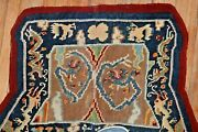 Antique Tibetan Dragon And Phoenix Horse Cover Rug Size 2and0395and039and039x4and039