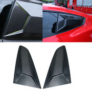 Carbon Fiber Side Vent Window Scoop Louver Cover Decor For Ford Mustang 15-2020