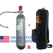 3l Air Tank Ce 4500psi Carbon Fiber Cylinder Pcp With 3l Backpack Bag Paintball