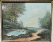 H. Wehler Scotland Oil On Canvas River Mountain Tree Landscape Painting