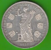 Bavaria History Double Taler 1837 Coin Asso Ciation Erstabschlag Toll Nswleipzig