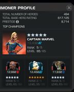 Baby On The Way Marvel Contest Of Champions Account 5/65 Nf, Cm, And Warlock