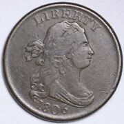 1806 Draped Bust Half Cent Choice Vf++/xf Free Shipping E402 Rcpm
