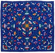 Beautiful Large Nr. Mint Applique Quilt With An Intricate One Of A Kind Design.