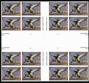 Rw85 2018 Federal Duck Stamp Large Margin Gutter Block Of 16 Xf Centering Nh