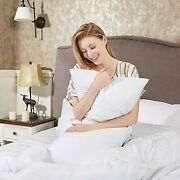 2 Pcs Grey Goose Down Feather Bed Pillows Sleeping Pillow Queen Size