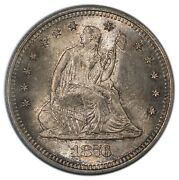 1876-s 25c Quarter Liberty Seated, With Motto Pcgs Ms65 Cac