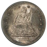 1876-s 25c Quarter Liberty Seated With Motto Pcgs Ms65 Cac