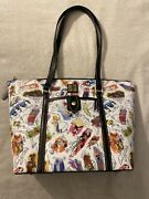 Disney Dooney And Bourke Ink And Paint Tote Purse Brer Splash Mountain Rare Nwt