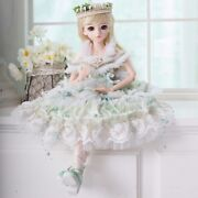 60cm Bjd Doll 1/3 Girl Jointed Dolls Face Makeup Wigs Shoes Clothes Full Set Toy