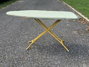 Vintage Lady Seymour Sunshine Yellow Metal Ironing Board With Pad And Cover