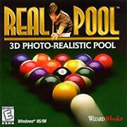 Real Pool Pc Cd Photo Realistic Billiards Table Bar Room Sports Cue Ball Game