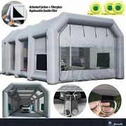 Inflatable Spray Paint Booth 3x950w Ul Blowers Portable Car Tent 39x20x13