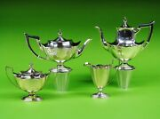 Plymouth By Gorham Sterling Silver 4-piece Tea / Coffee Set.