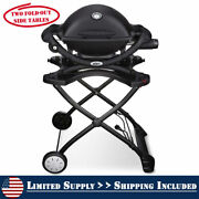 Weber Q 1200 Tabletop Propane Gas Grill 1 Burner Portable Built In Thermometer