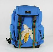 Blue Canvas Tiger Head Grg Straps And Banana Patches Backpack 429037 4360